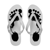 Black and White Footprints - Women - 1