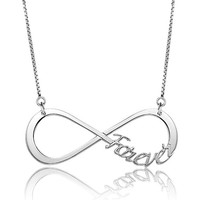 Infinity Custom Made Name Pendant Necklace, Custom Jewelry | Pugster.com