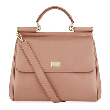 Dolce & Gabbana Large Sicily Tote in Light Pink | Harrods