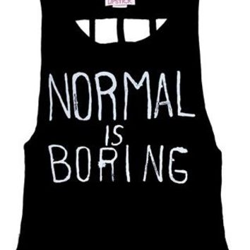 NORMAL IS BORING CAGE BACK TANK