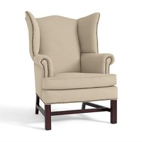 Thatcher Upholstered Wingback Chair Performance Fabrics