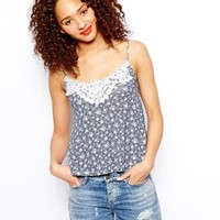 New Look Crochet Ditsy Cami