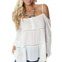 Off Shoulder Boho Blouse