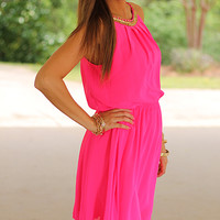 Rock Goddess Dress, Fuchsia