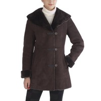 BGSD Women`s Faux Shearling Pant Coat