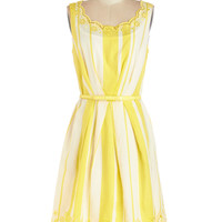 ModCloth Long Sleeveless A-line All Bright, All Bright, All Bright Dress