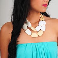 I'm A Rolling Stone Necklace: Cream