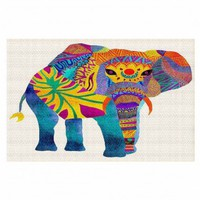 Area Rugs Unique Artistic Designer | Pom Graphic Design's Whimsical Elephant I
