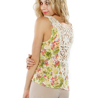 Papaya Clothing Online :: FLORAL BACK LACY TOP