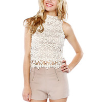Papaya Clothing Online :: FLORAL LACY SLEEVELESS TOP