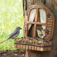 Fairy Window Bird Feeder - Plow  Hearth