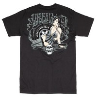 "Men's ""Kustom Evil"" Tee by Lucky 13 (Black)"