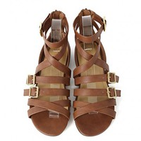 City Classified Shawny-s Gladiator Sandals | MakeMeChic.com