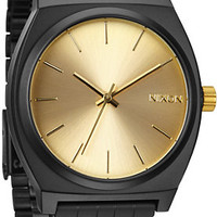 Nixon Time Teller Black & Gold Face Watch