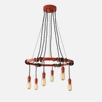 Tangled Chandelier - Persimmon