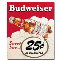 Trademark Global Budweiser Vintage Ad Twenty Five Cents Canvas Art - AB227-C1822GG - Canvas Art - Wall Art &amp; Coverings - Decor