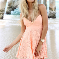 Peach Lissa Dress | SABO SKIRT