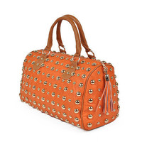 Pree Brulee - English Boston Handbag - Orange
