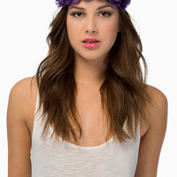 Royal Floral Headband $12