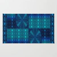 Moharra Teal Area & Throw Rug by Nina May