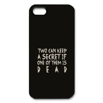 CTSLR TV Show Pretty Little Liars Hard Case Cover Skin for Apple iPhone 5/5s- 1 Pack - Black/White - 6- Perfect Gift for Christmas