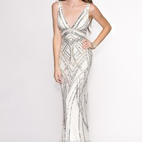 Scala 47680 Open Back Gown