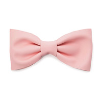 Faux Leather Bow Barrette