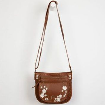 T-SHIRT & JEANS Floral Embroidered Crossbody Bag