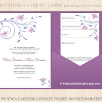 Wedding pocket fold invitation template| Pocket fold invitation| Wedding pocketfold | Pocketfold Wedding templates