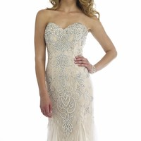 Embellished Sweetheart Gown by Morrell Maxie