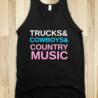 TRUCKS AND COWBOYS - glamfoxx.com - Skreened T-shirts, Organic Shirts, Hoodies, Kids Tees, Baby One-Pieces and Tote Bags