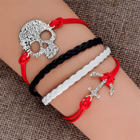 New Infinity Leather Bracelet Silver Gold Love Handmade Wrap Charms Bracelet Lot