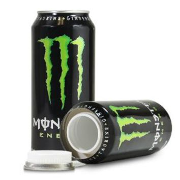 Monster Energy Drink Green Can Diversion Stash Safe