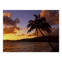 USA, Hawaii, Kauai, Colorful sunrise in a 2