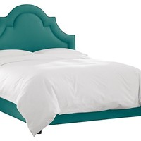 Kennedy Bed, Linen Teal