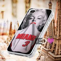 Marilyn Monroe Miami Heat for iPhone 4/4s,5,5s,5c - SG S2,S3,S4 - SG S3 Mini,SG S4 Mini - iPod 4, iPod 5 - Htc One