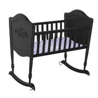 DaVinci Chloe Wood Baby Cradle in Ebony