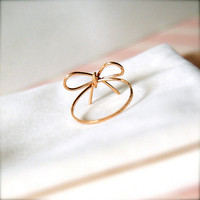 Ribbons -- Goldfilled Ribbon Rings -Wedding Momento, Bridesmaids Jewelry, Valentine Gifts, Everyday | Luulla