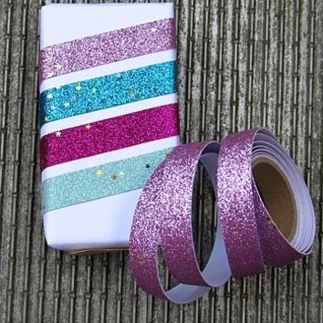 Glitter Gift Wrapping Tape