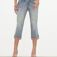 G by GUESS Joslyn Capri Jeans - Medium Wash