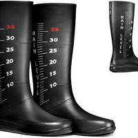 Rain Rulers: Colorful Rubber Boots Measure Water in Style | Designs & Ideas on Dornob