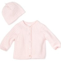 Little Me Baby-girls Newborn Adorable Cable Sweater