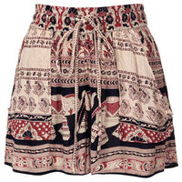ELEPHANT PRINT SHORTS BY BAND OF GYPSIES