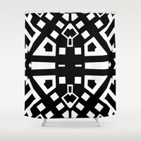 Black and White 60002 Shower Curtain by EML - CircusValley