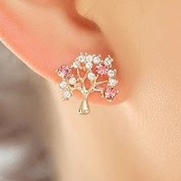 Sparkly Wishing Tree Rhinestone Earrings