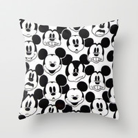 Mickey Mouse Throw Pillow by Pink Berry Pattern | Society6