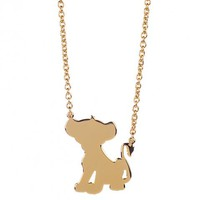 Gold Plated Simba Silhouette Lion King Necklace From Disney Couture : TruffleShuffle.com