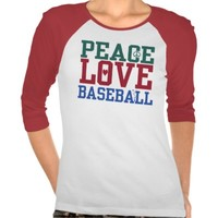 PEACE LOVE BASEBALL Graphic TEE