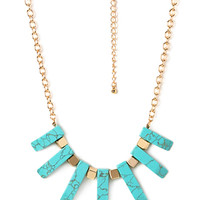 Well Traveled Faux Stone Bib Necklace