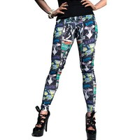 "Women's ""Elvira Comic Cover"" Leggings by Kreepsville 666"